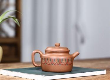 范君浩紫砂壶作品 蟹黄段泥锦绣德钟壶250CC手制正品价值