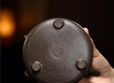 朱正琴紫砂壶作品 古铜泥子冶石瓢壶300CC手制正品多少钱