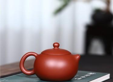 史宗娟紫砂壶作品|原矿大红袍西施壶250CC手工正品价格表