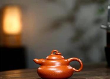 单志萍紫砂壶作品 原矿降坡泥葫芦壶180CC全手工正品价格