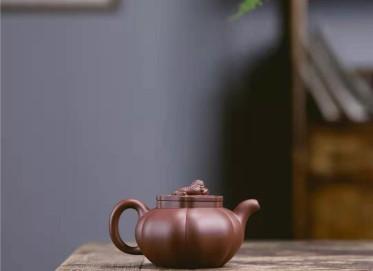 牟锦芬紫砂壶作品|原矿底槽清狮球壶320CC纯手工真品价格表