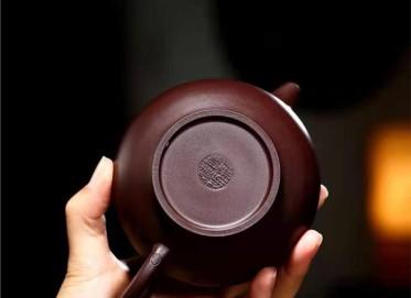 庄其芳紫砂壶作品|原矿紫泥掇只壶270CC手工正品价格