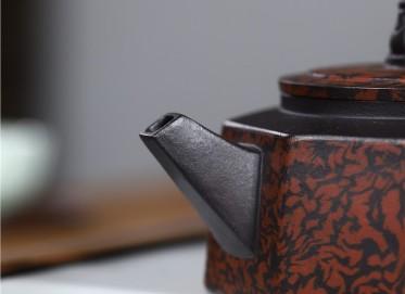 史宗娟紫砂壶作品 黑料祥瑞八方壶220CC纯手工正品怎么样