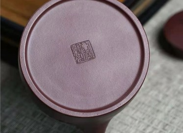 陈亚萍紫砂壶作品|原矿紫泥汉铎壶350CC纯手工正品价格表
