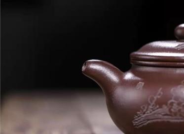 王岳龄紫砂壶作品 石红料仿古壶380CC全手工真品价值