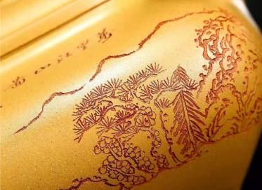 黄卫民紫砂壶作品|原矿黄金段泥传炉壶1000CC手工真品行情