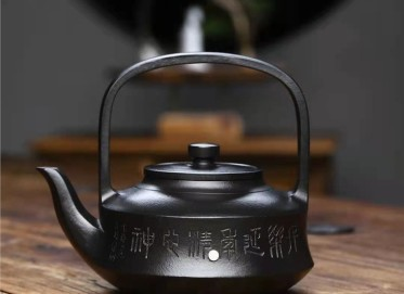 成梅英紫砂壶作品 石黄泥提壁壶550CC纯手工真品价格