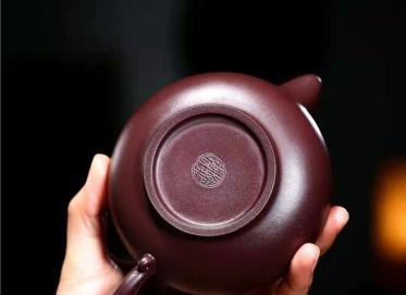 朱正琴紫砂壶作品 原矿紫泥华颖壶300CC纯手工真品价位