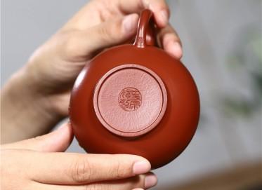 史宗娟紫砂壶作品 原矿大红袍夏果秋香壶190CC纯手工真品价位