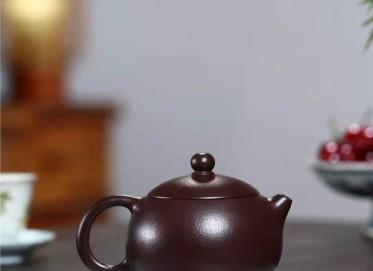 陈亚萍紫砂壶作品|石红料西施壶270CC手工真品多少钱