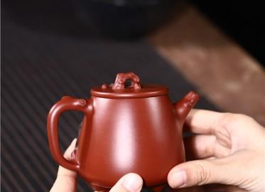 史宗娟紫砂壶作品 原矿大红袍高石瓢壶230CC手工正品多少钱