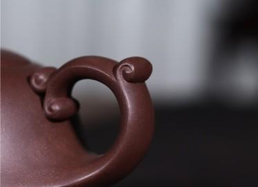 史宗娟紫砂壶作品|原矿紫泥博浪壶370CC纯手工真品价格