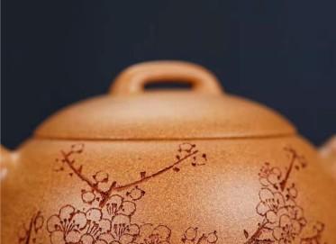 陈小明紫砂壶作品 金葵段泥半月壶250CC手制真品行情