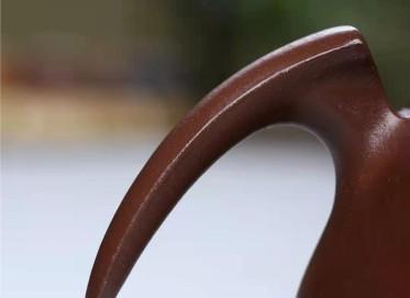 成梅英紫砂壶作品|原矿紫泥一帆风顺壶220CC手工正品价值