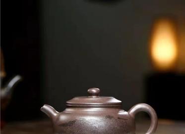 庄其芳紫砂壶作品 原矿青灰泥掇圆壶360CC手工真品行情