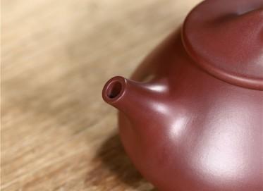 范君浩紫砂壶作品|梅红泥石瓢壶340CC纯手工真品怎么样
