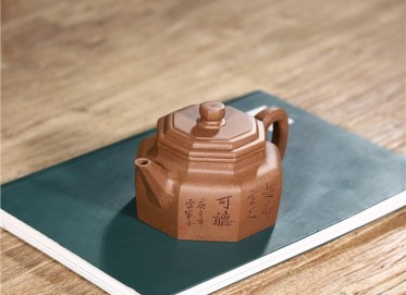 张雪军紫砂壶作品|原矿段泥八方德钟壶240CC纯手工正品价值