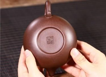 徐勤紫砂壶作品 黑星砂仿古壶280CC纯手工正品价格表