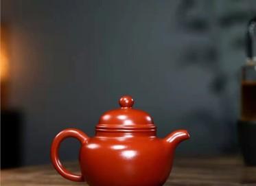 朱正琴紫砂壶作品 原矿大红袍掇球壶270CC手工真品价位