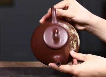 韩洪波紫砂壶作品|原矿底槽清子冶石瓢壶400CC手制正品多少钱