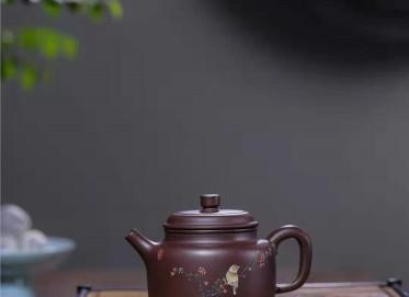 韩惠琴紫砂壶作品|原矿紫泥德钟壶250CC纯手工真品多少钱