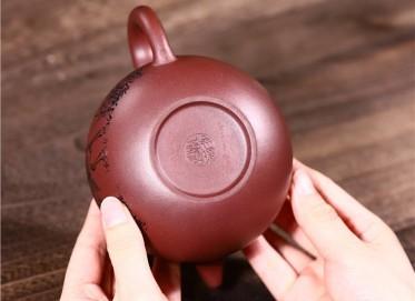 吴暗华紫砂壶作品 原矿底槽清掇球壶440CC全手工正品多少钱