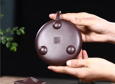 徐永君紫砂壶作品|原矿紫泥石瓢壶360CC手工正品多少钱