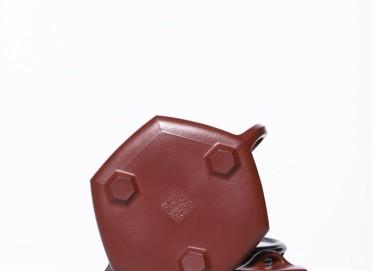 徐永君紫砂壶作品|原矿朱泥六方石瓢壶250CC全手工正品行情