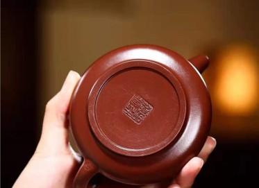 王其明紫砂壶作品|紫朱泥平盖石瓢壶210CC手工真品怎么样