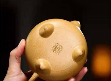 高俊紫砂壶作品|原矿黄金段泥井泉壶260CC全手工正品价格