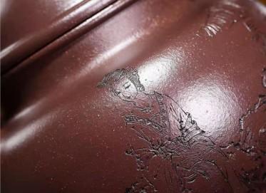 秦国萍紫砂壶作品|紫玉金砂寿珍掇球壶1000CC手工真品价格