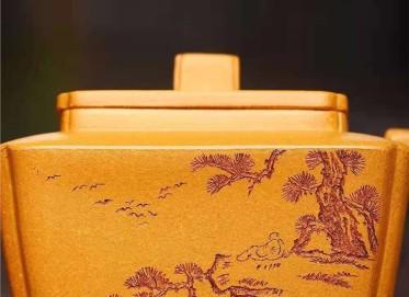 刘政紫砂壶作品 原矿黄金段泥传香壶230CC全手工真品怎么样
