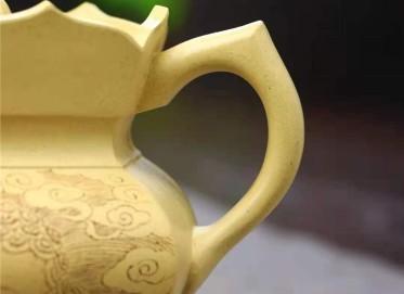 王玉芳紫砂壶作品|本山绿泥僧帽壶350CC纯手工真品多少钱