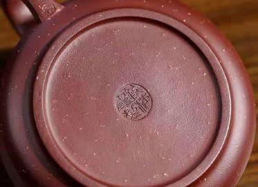 钱海霞紫砂壶作品 原矿底槽清石扁壶310CC手工正品价位