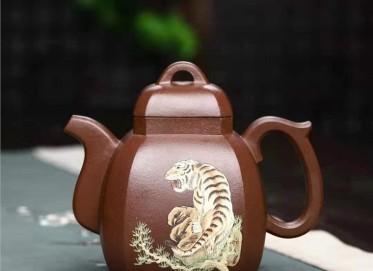 王玉芳紫砂壶作品 原矿中槽清福临八方壶450CC手工真品多少钱