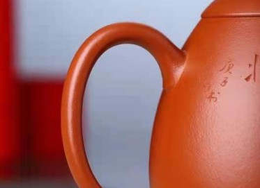 李霓紫砂壶作品 原矿红泥橄榄壶450CC纯手工正品行情