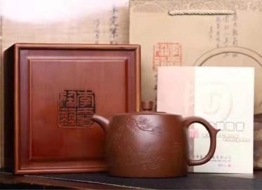 李霓紫砂壶作品|原矿底槽清李氏井栏壶600CC手制真品多少钱
