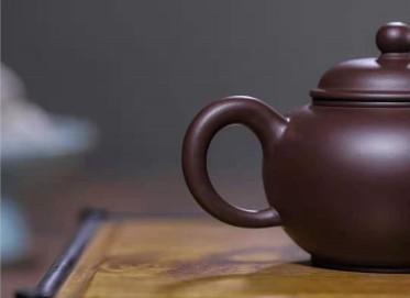 韩惠琴紫砂壶作品 原矿紫泥水平壶250CC纯手工正品多少钱