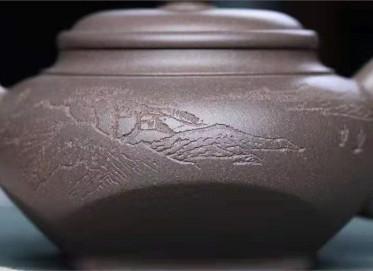 李霓紫砂壶作品|原矿青灰泥随方就圆壶200CC手工正品多少钱