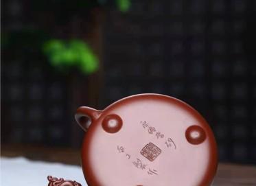 郭余华紫砂壶作品|紫朱泥景舟石瓢壶260CC手制真品价格