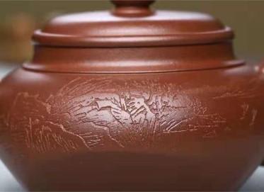 李霓紫砂壶作品 原矿底槽清随方就圆壶400CC手工正品价值