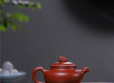 韩惠琴紫砂壶作品|原矿大红袍仿古百财壶210CC手制正品价格表