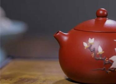 韩惠琴紫砂壶作品 原矿大红袍西施壶230CC手工真品价位