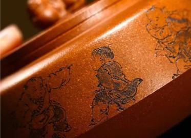 储国峰紫砂壶作品 原矿黄金段泥五子同乐壶240CC纯手工正品价格表