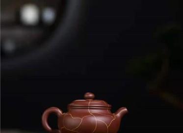 韩惠琴紫砂壶作品 原矿底槽清冰纹仿古壶260CC全手工正品价位