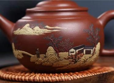 王玉芳紫砂壶作品|文革紫泥景舟腰线壶330CC手工正品价格
