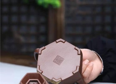 王玉芳紫砂壶作品|原矿中槽清古亭六方壶300CC纯手工正品价格