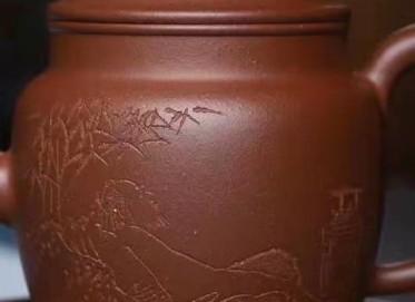王玉芳紫砂壶作品|原矿紫泥明式壶220CC手制真品价格