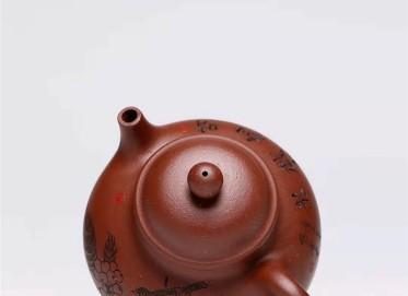 杨慧英紫砂壶作品 原矿底槽清容天壶300CC纯手工真品价值