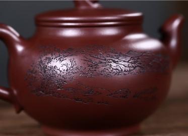 范君浩紫砂壶作品 紫茄泥凤舞壶430CC纯手工正品价格